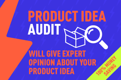 Package: 100% Money Saving - Your Product Idea Audit