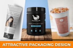 Package: Attractive Product Labels / Box Packaging for PL