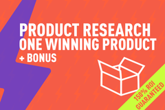 Package: Product Research - Silver Package - One Profitable Product
