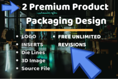 Package: 2 Product Packaging Design | INSERTS - Custom Order - Chris