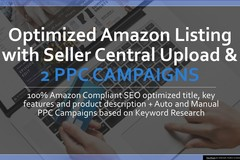 Package: Amazon Listing, Upload to SC & 2 PPC Campaigns