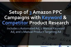 Package: Setup 3 Amazon PPC Campaigns, Keyword & Competitor Research