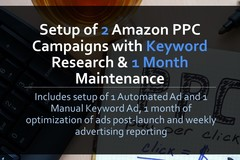 Package: Setup 2 Amazon PPC Ads w/ Keyword Research & 1 Month Review