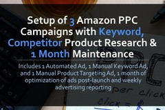 Package: Setup 3 Amazon PPC Ads w/ Keyword Research & 1 Month Review