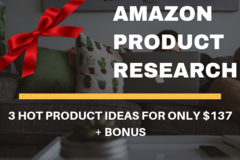 Package: Product Research GOLD Package | 3 Product Ideas + BONUS