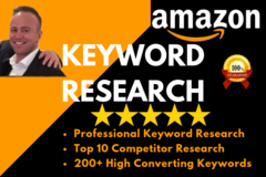 Package: Professional Amazon Keyword And Competitor Research
