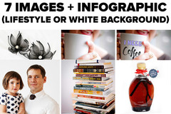 Package: 7 Images + Infographic (lifestyle or white background)