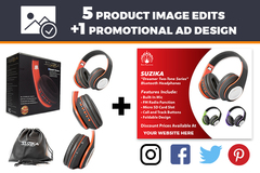Package: 5 Professionally Edited Images + 1 Promotional Ad