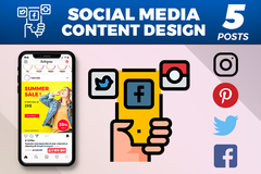 Package: Social Media Post Design Package (5 Posts)