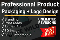 Package: Professional Product Packaging + Logo + Infographic