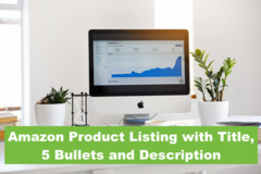 Package: Amazon Product Listing with Title, 5 Bullets and Description