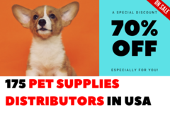 Package: 125 Wholesalers & Distributors For Pet Supplies in USA
