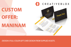 Package: Custom Job Offer: Maninam Gift Card Design