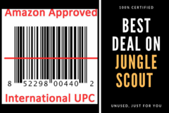 Package: 900+ Gs1 Certified UPC EAN Barcodes for Amazon: LIFETIME USE
