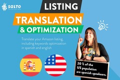 Package: Translate + SEO optimized english/spanish Amazon listing