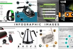Package: 4 Product Info-Graphics + Source Files & Unlimited Revisions