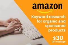 Package: Amazon Keyword research for 5 competitor products - $30