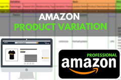 Package: I Will Create Or Fix Your Product Variation On Amazon