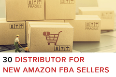 Package: 30 Distributor for New Amazon FBA Sellers - List -