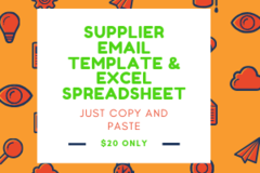 Package: SUPPLIER EMAIL TEMPLATE & EXCEL FILE