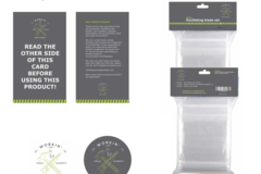 Package: packaging design, insert card and Logo