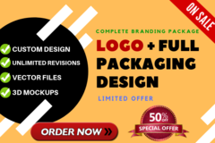 Package: PREMIUM BRANDING PACKAGE: Logo + Packaging Design