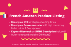 Package: French Optimized & SEO Amazon Listing