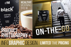 Package: Custom Product Photography + Infographics Package