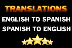 Package: Translation services English to Spanish - Spanish to English
