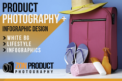 Package: Custom Product Photography Lifestyle Infographics for Hamza