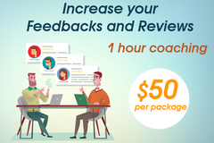 Package: Increase your Feedbacks and Reviews – 1 hour coaching