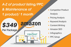 Package: A-Z product listing/PPC & Maintenance of 1 product / 1 month