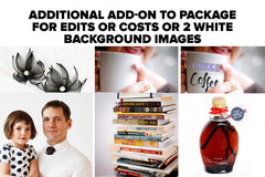 Package: Additional Editing or 2 white background photos