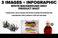 Package: 3 white background images + infographic