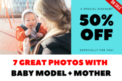 Package: 7 Best Quality Images Pack: Baby Model + Mother