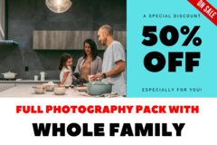 Package: 3 Products using Whole Family: Full Photos Pack (27 Photos)