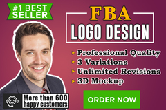 Package: Professional FBA Logo Design - 3 Unique Modern Designs