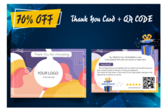 Package: Amazing Thank You Card + QR CODE - Increase your rank