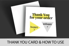 Package: Increase Amazon Reviews & Mail List - THANK YOU CARD