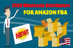 Package: 2500 USA Wholesale Distributors for your Amazon FBA business