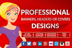 Package: Professional Covers, Banners or  Headers Designs