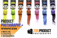 Package: Product Photography Lifestyle with Model & Infographics
