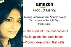 Package: SEO Amazon Optimized Product Listing with HTML Descrition
