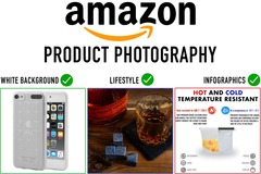 Package: Three (3) Amazon product photos WITH infographics