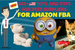Package: 300+ USA TOYS and PET TOYS suppliers for Amazon FBA
