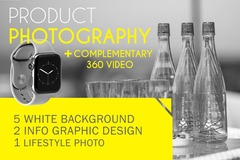 Package: 8 High Quality Product Photos + Complementary 360 Video