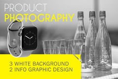 Package: High Quality white background Photos + Infographic