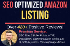 Package: Premium Amazon Listing w/ PPC Keywords, Search Terms - BONUS