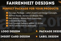 Package: Logo , Package , Insert card & Label Design
