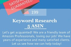 Package: Keyword Research for 5 ASIN - Includes Keyword Report